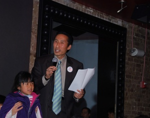 Jade and Eric Mar on the campaign trail, 2008
