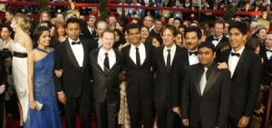 The Slumdog crew at the Oscars, 2009