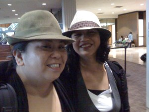 Dawn Mabalon & Allyson Tintiangco-Cubales, porkpie-ing