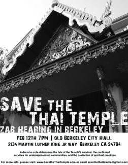 Save The Thai Temple poster, 2009