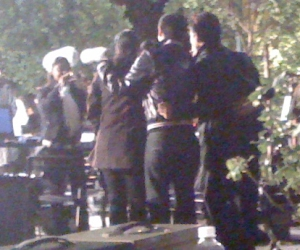 Back of Kajol & Karan Johar, My Name Is Khan location, Healdsburg, 2009