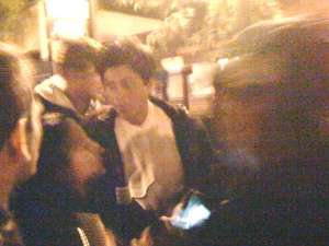 Blurry but close Shah Rukh Khan, My Name Is Khan location, Healdsburg, 2009