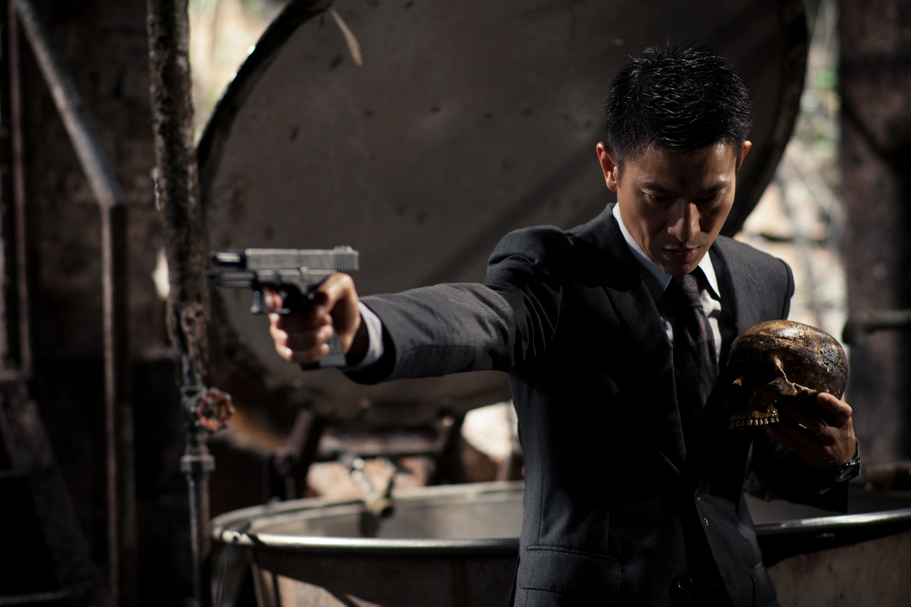 Andy Lau shoots without seeing, Blind Detective, 2012