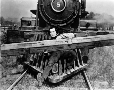 A boy and his log, The General, 1926
