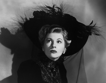 Joan Fontaine back in black, Ivy, 1947